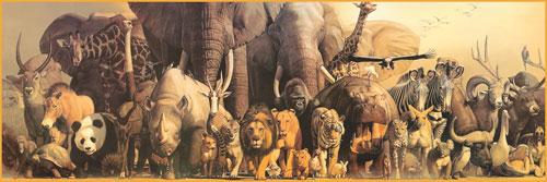 Noah's Ark Jungle Animals Jigsaw Puzzle