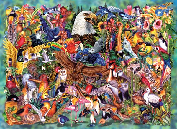 Birds of the World Birds Jigsaw Puzzle