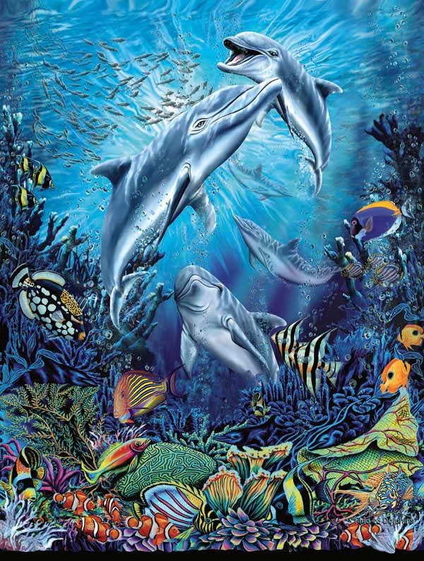 Dolphin Antics Dolphins Jigsaw Puzzle