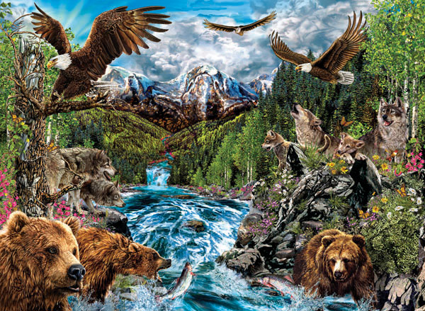 River of Life Bears Hidden Images