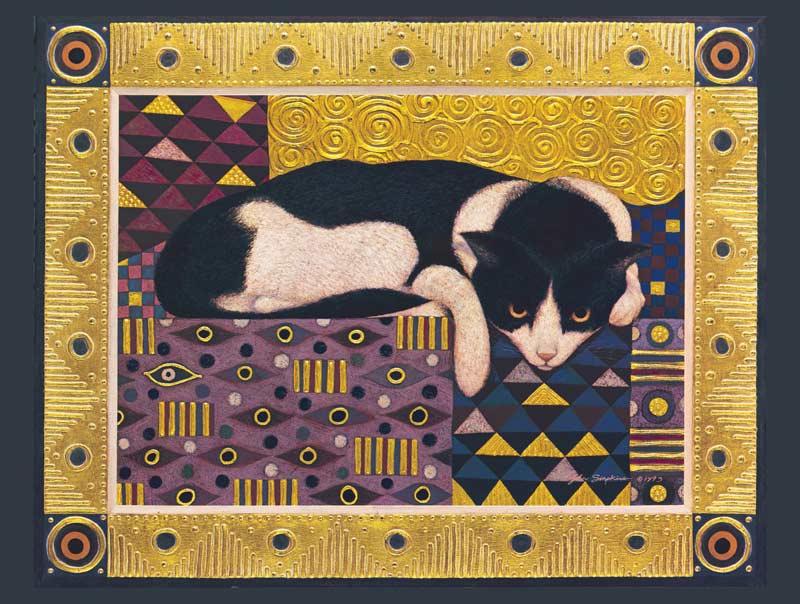 Pavan Von Klimt Cats Jigsaw Puzzle