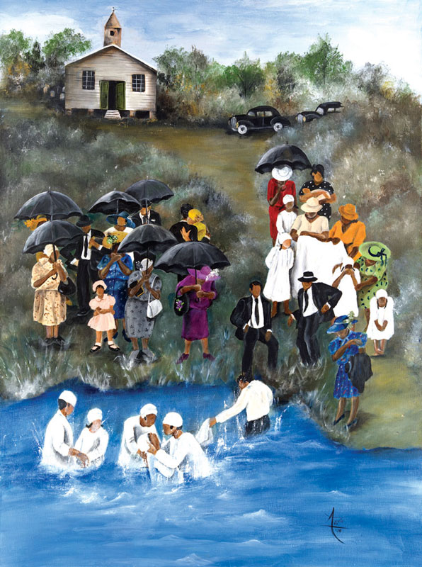 Baptism African American Jigsaw Puzzle