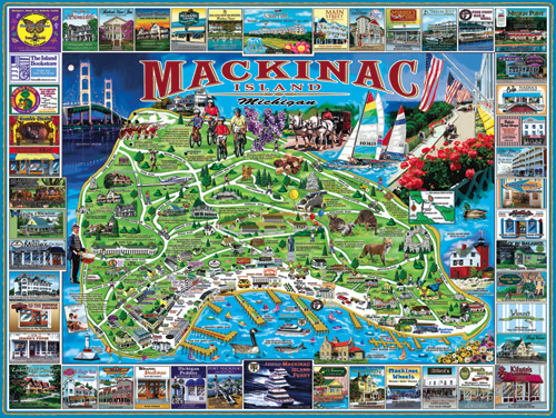 Mackinac Island, MI Educational Jigsaw Puzzle