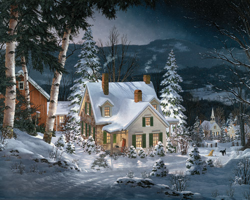 Friends in Winter Winter Jigsaw Puzzle