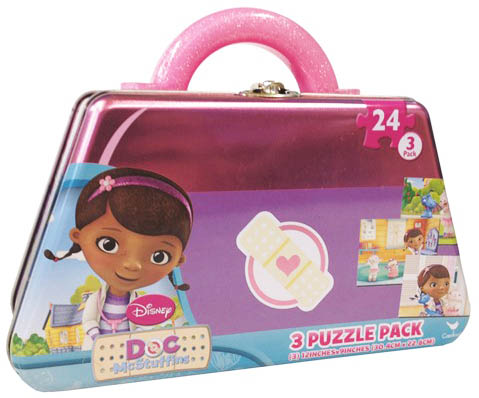 3 Puzzle Pack - Doc McStuffins Cartoons Children's Puzzles