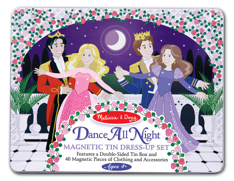 Dance All Night Princess Magnetic Tin Set Dance Toy