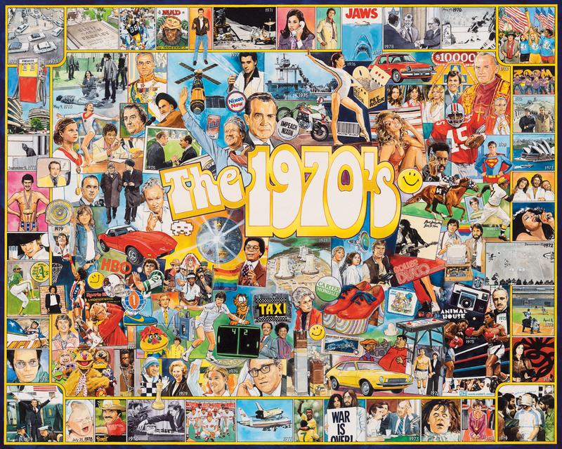 The Seventies Famous People Jigsaw Puzzle