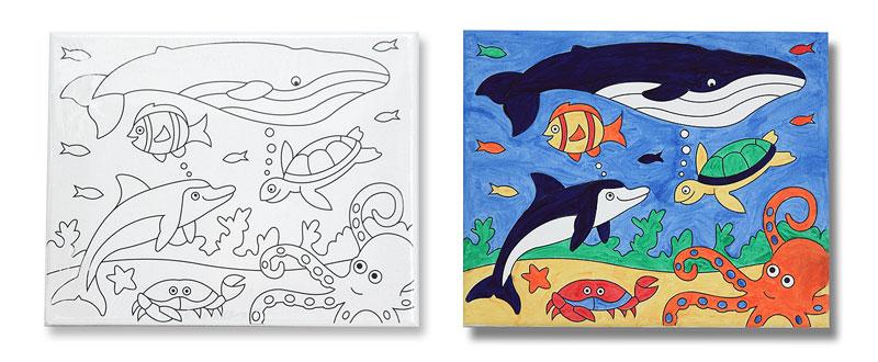 Canvas Creations - Sea Life Under The Sea