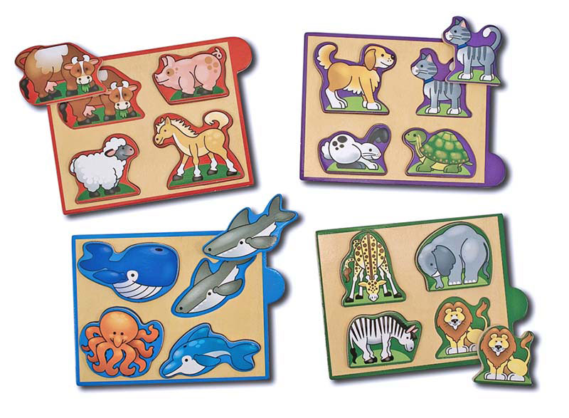 Mini Puzzle - Animals Farm Animals Wooden Jigsaw Puzzle