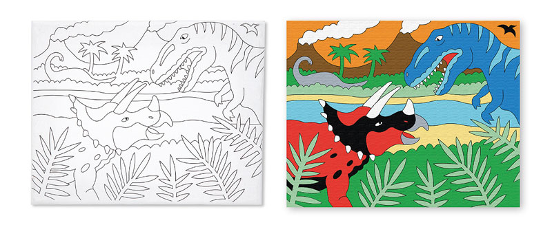 Canvas Creations - Dinosaur Dinosaurs