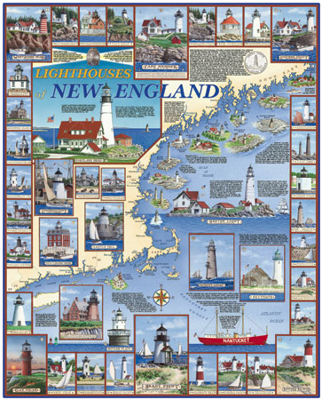 Lighthouses of New England Lighthouses Jigsaw Puzzle