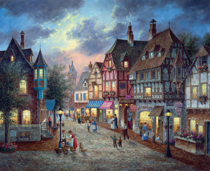 Bearington Street Street Scene Jigsaw Puzzle