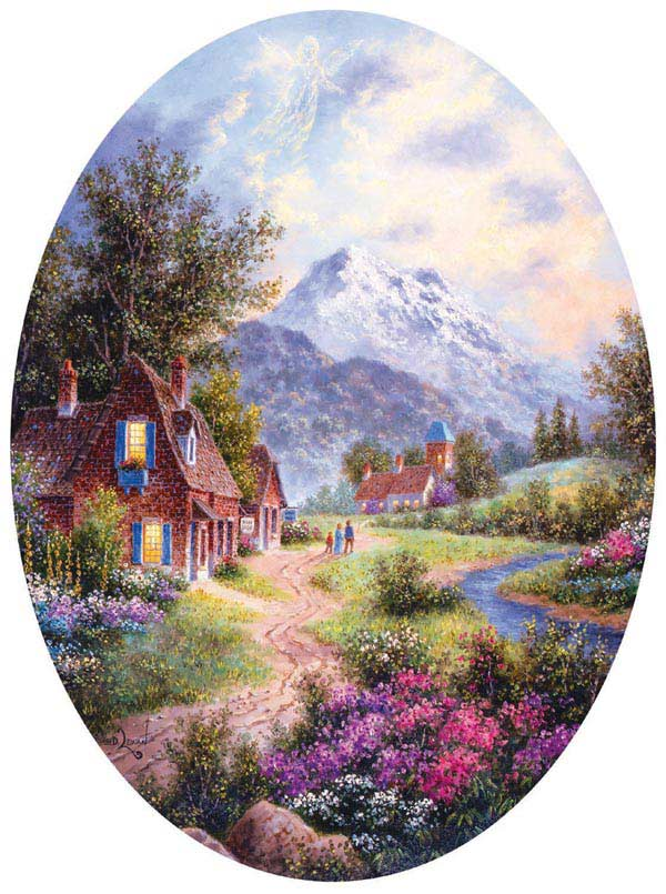 Summer in Bavaria Mountains Jigsaw Puzzle