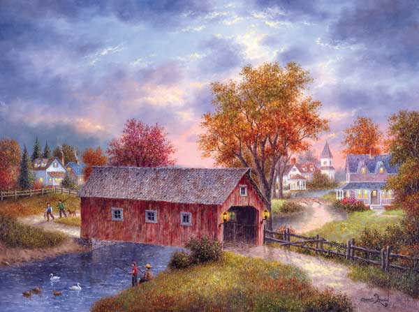 Autumn Daze Bridges Jigsaw Puzzle