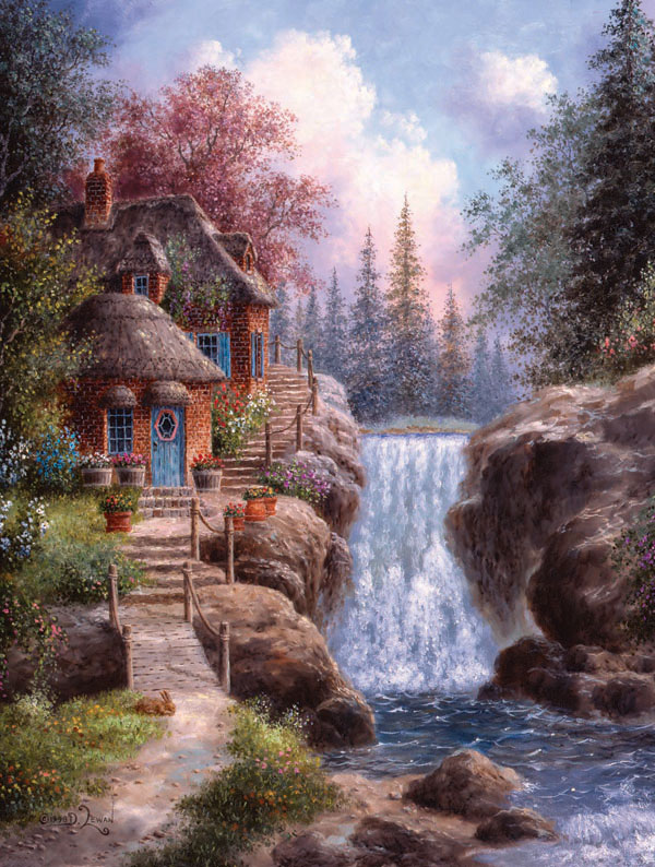 Tranquility Falls Countryside Jigsaw Puzzle