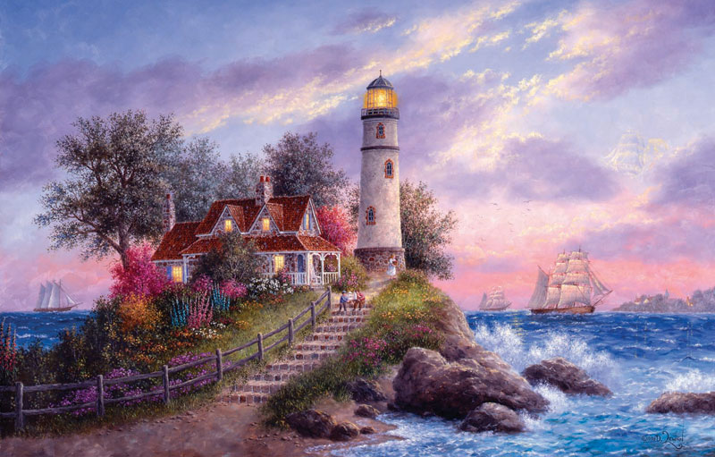 Captain's Cove Lighthouses Jigsaw Puzzle