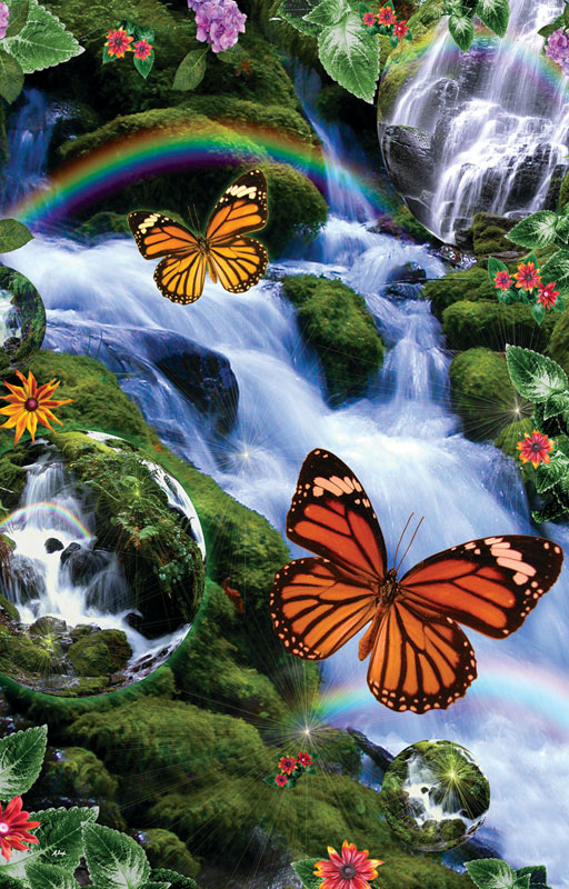 Butterfly Fairyland Falls Butterflies and Insects Jigsaw Puzzle