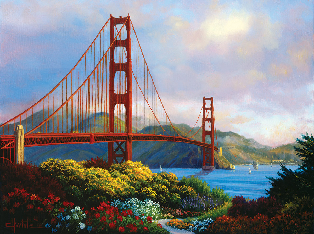 Morning at the Golden Gate - Scratch and Dent Landmarks / Monuments Jigsaw Puzzle