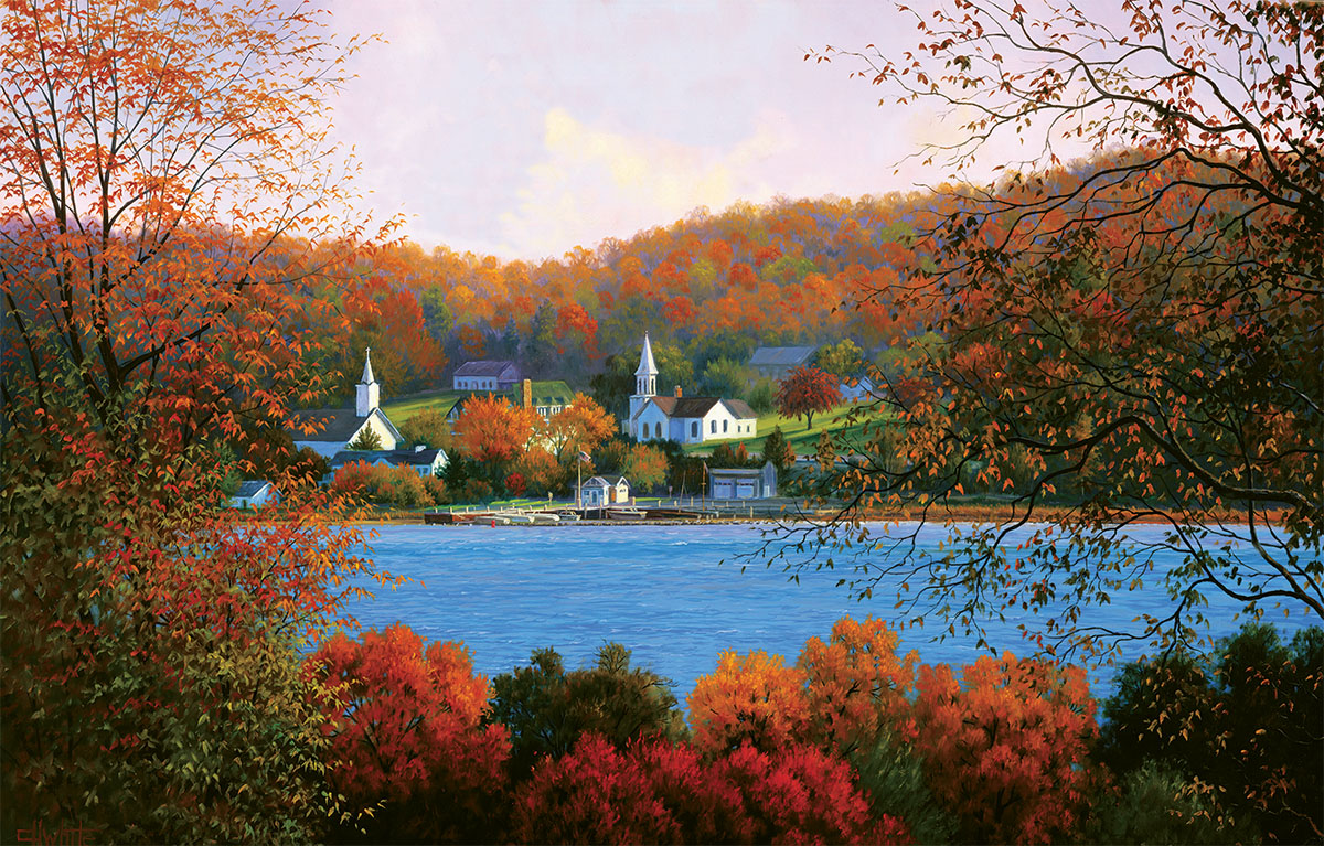 Window to the Past Fall Jigsaw Puzzle