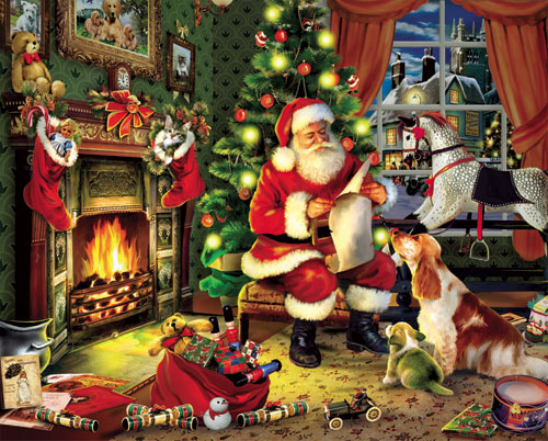 Checking It Twice - Scratch and Dent Santa Jigsaw Puzzle