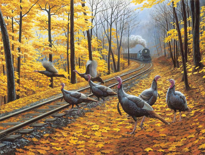Turkey Tracks Fall Jigsaw Puzzle