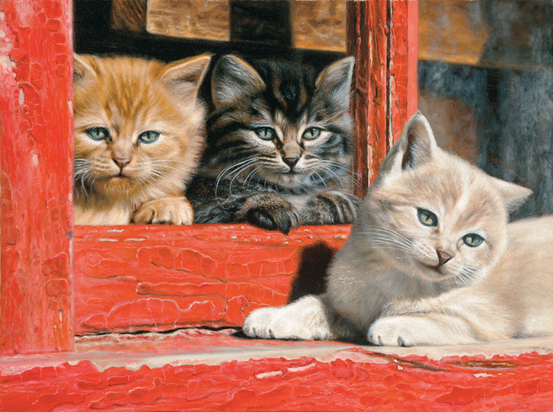Fleas and Paint Chips Cats Jigsaw Puzzle