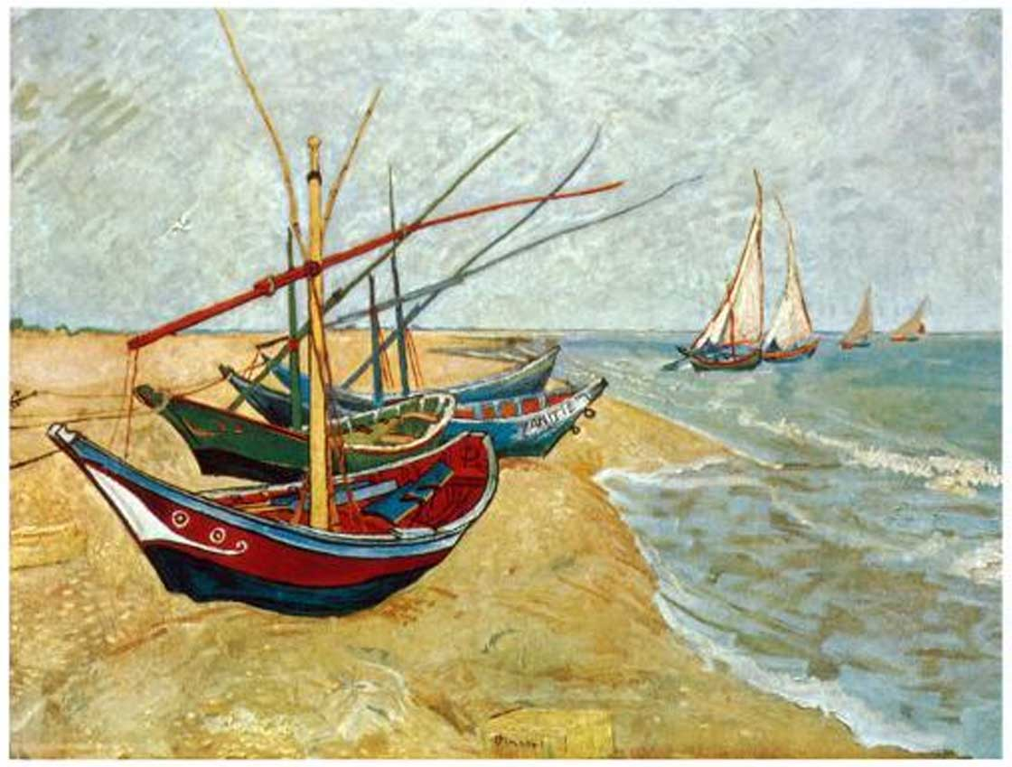Fishing Boats on the Beach Fine Art Jigsaw Puzzle