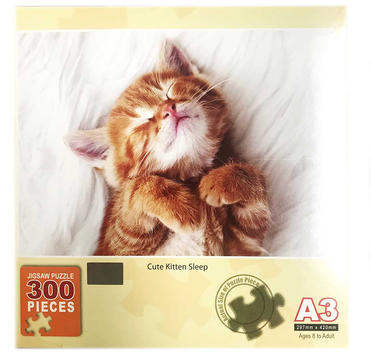 Cute Kitten Sleeping Cats Jigsaw Puzzle