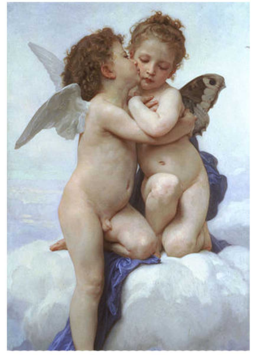 Cupid and Psyche as Children Fine Art Jigsaw Puzzle