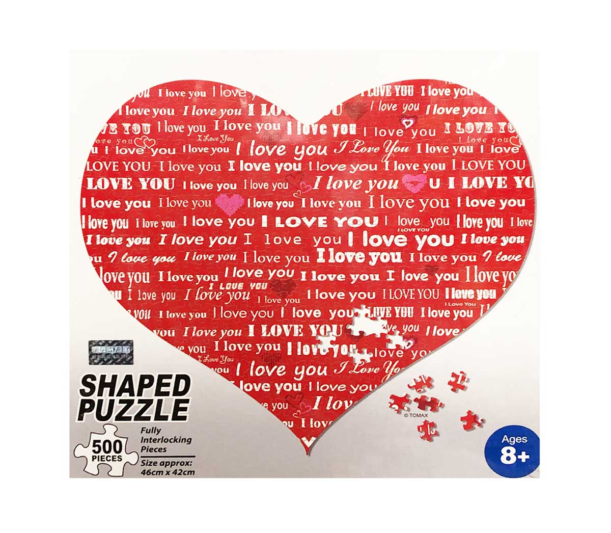 Red Heart Valentine's Day Shaped Puzzle