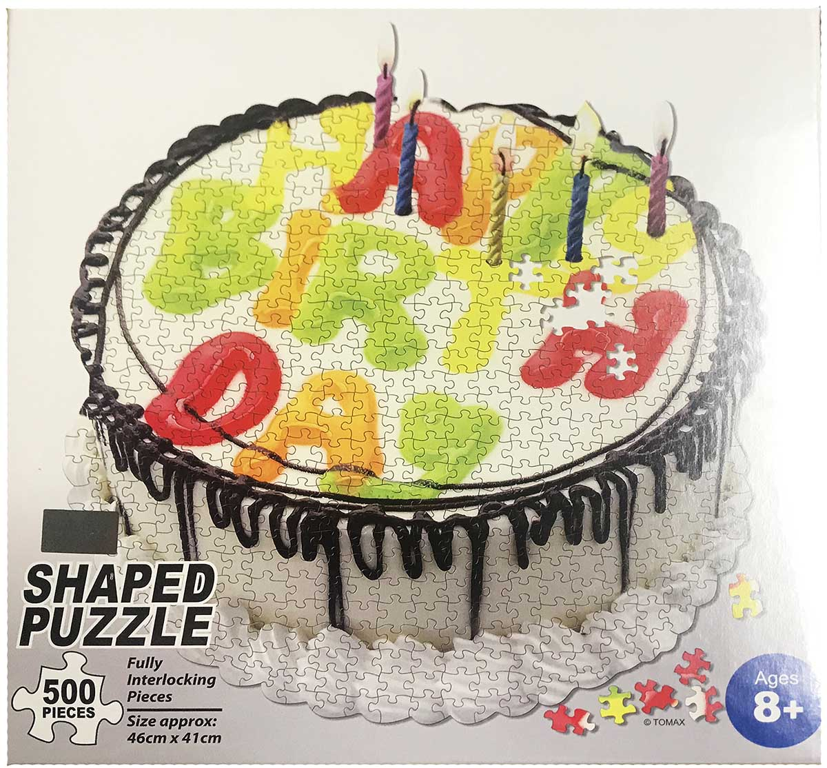 Birthday Cake Sweets Shaped Puzzle