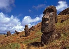 Anakena Moai, Chile (Mini) Travel Jigsaw Puzzle