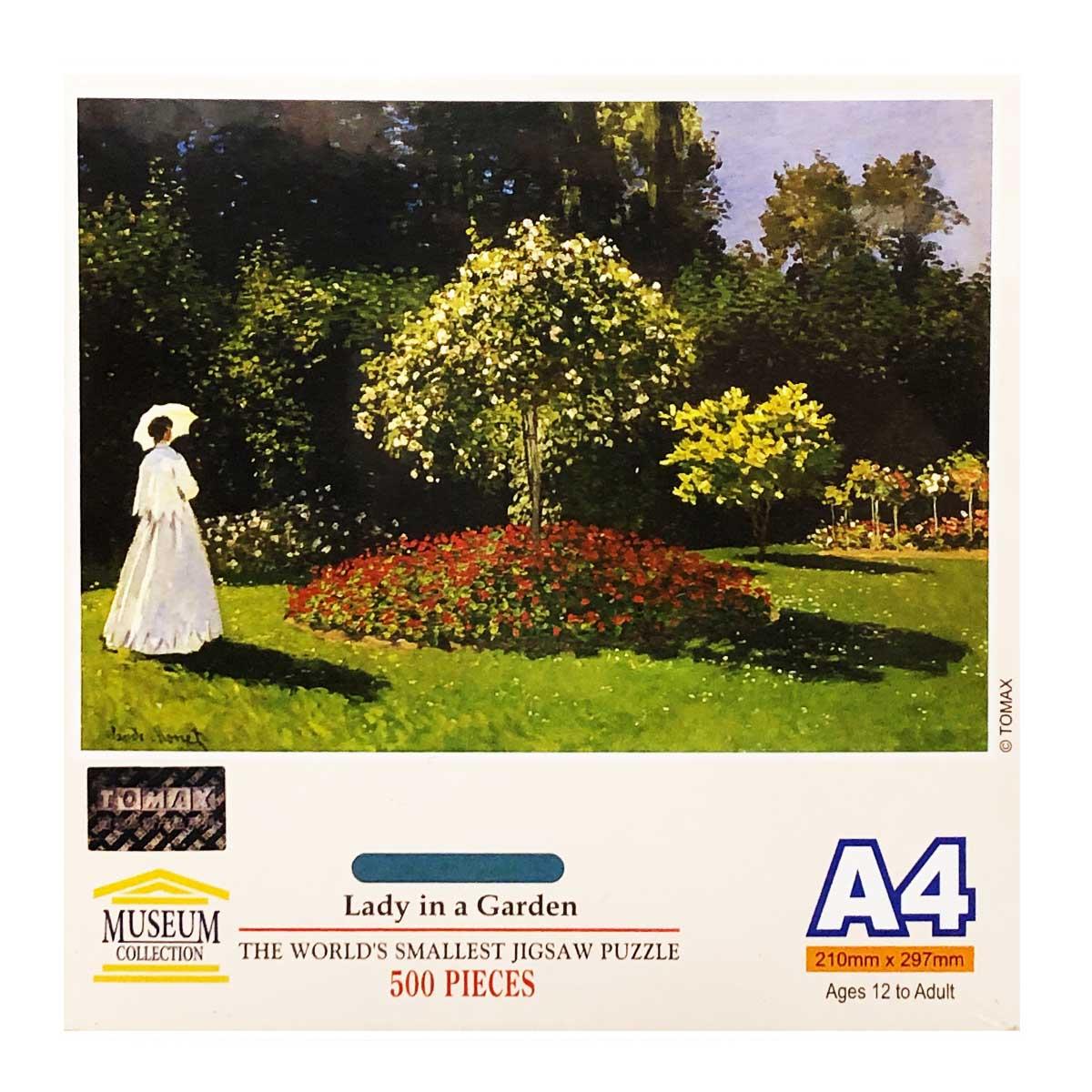 Lady In Garden (Mini) Fine Art Jigsaw Puzzle