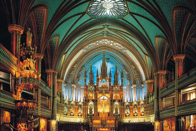 Notre-Dame De Montreal Canada Landmarks / Monuments Jigsaw Puzzle