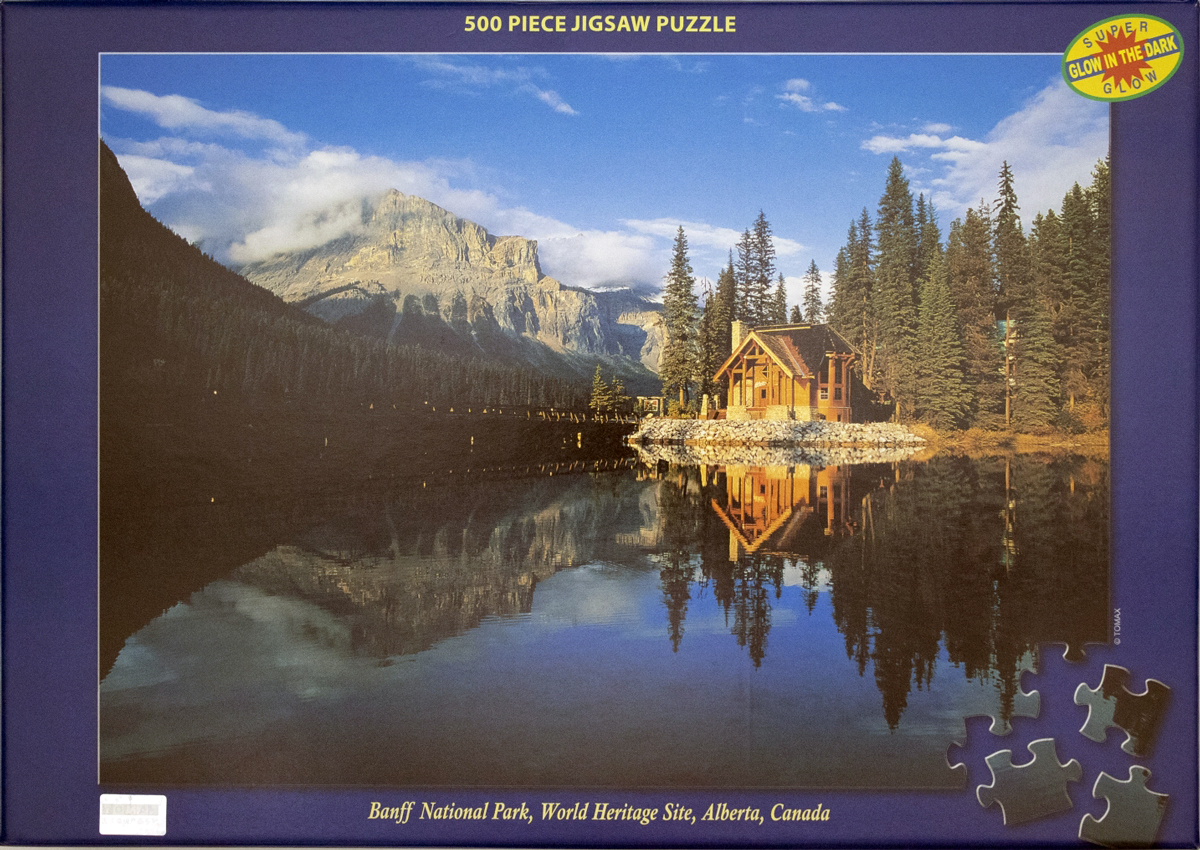 Banff National Park Mountains Glow in the Dark Puzzle