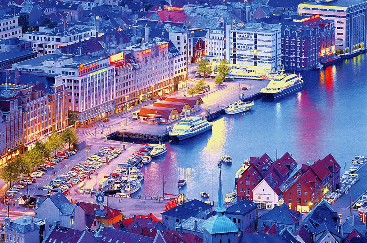 Bergen, Norway Boats Jigsaw Puzzle