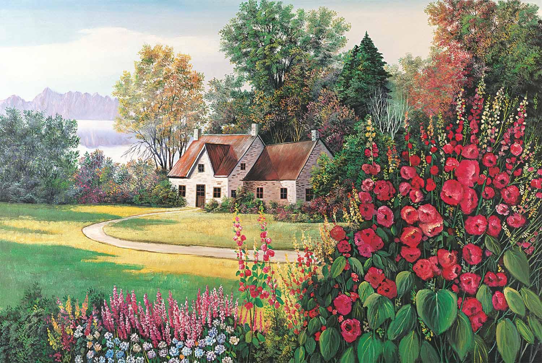 Floral Paradise Garden Jigsaw Puzzle