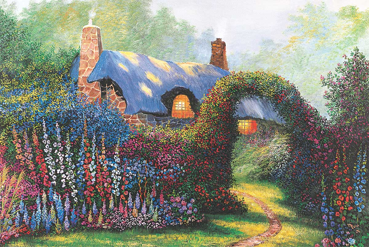 Floral Arch Garden Jigsaw Puzzle
