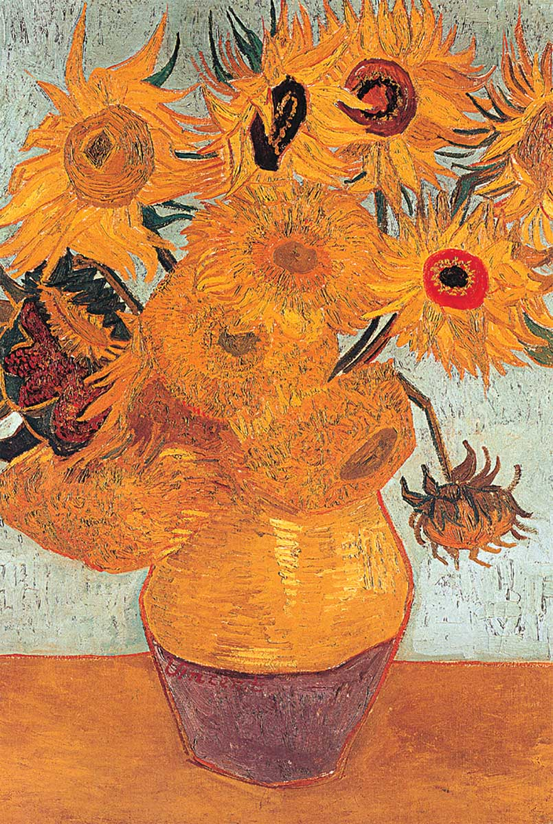 Sunflowers Impressionism Jigsaw Puzzle
