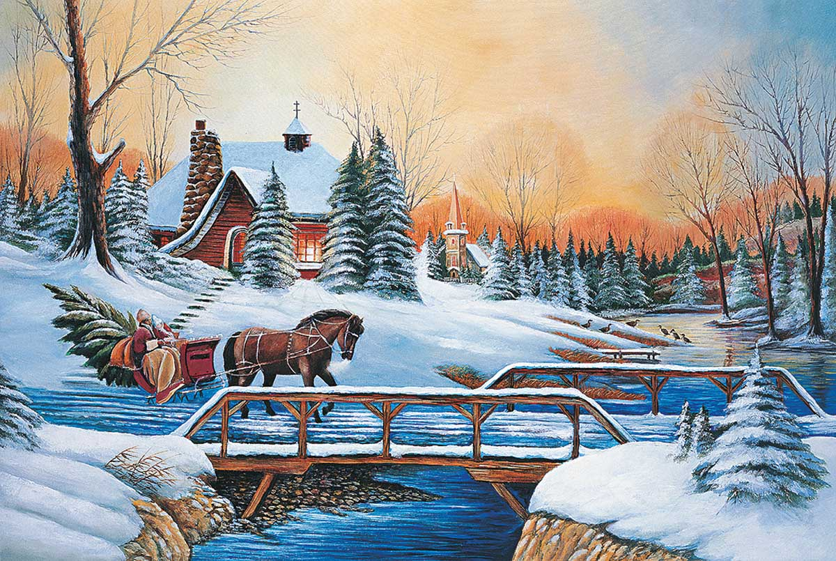 Holiday Outing Christmas Jigsaw Puzzle