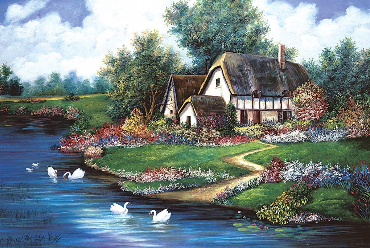 Flourishing Spring Countryside Jigsaw Puzzle