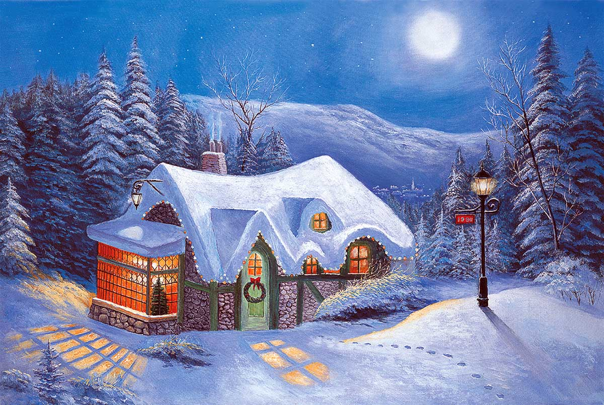 Silent Night Forest Jigsaw Puzzle