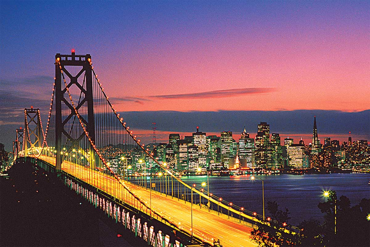 San Francisco, USA Travel Glow in the Dark Puzzle