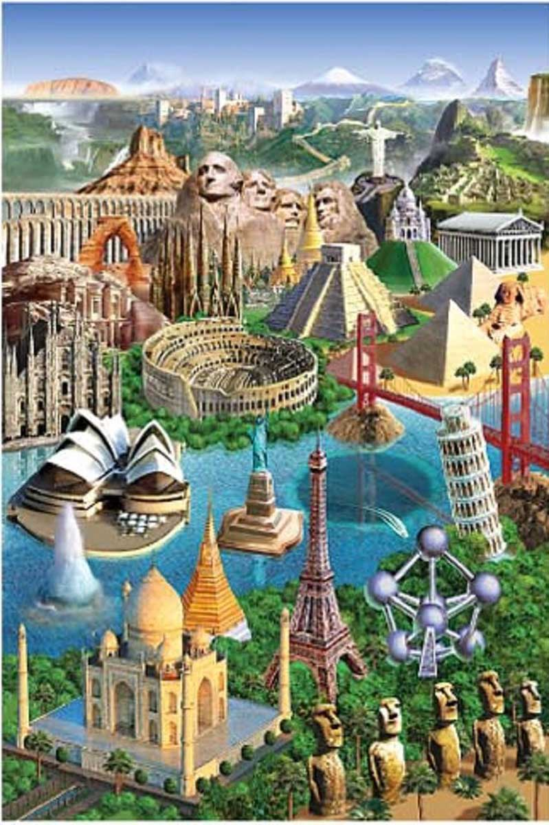 Wonders of the World Landmarks / Monuments Jigsaw Puzzle