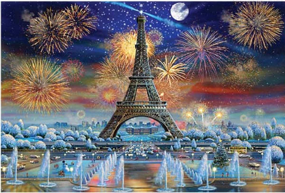 Eiffel Tower Celebration France Jigsaw Puzzle