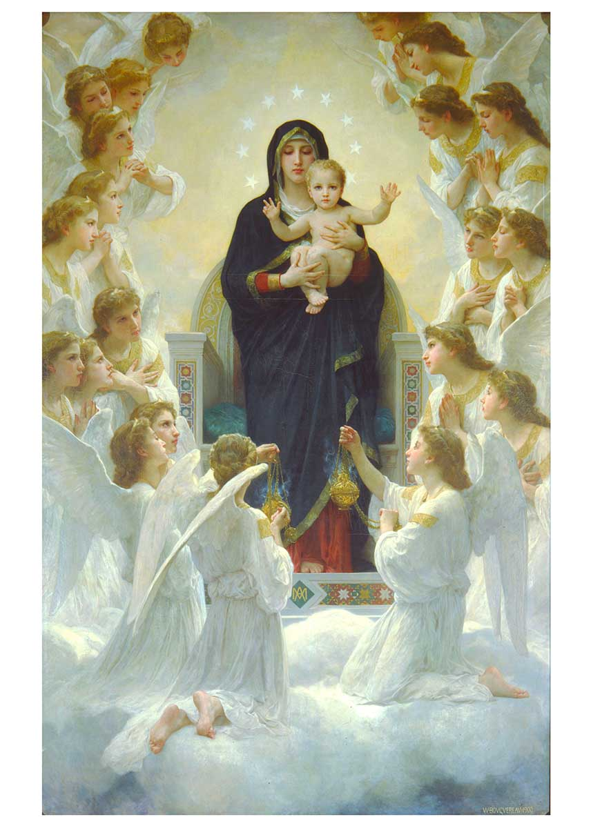 The Virgin with Angels Fine Art Jigsaw Puzzle