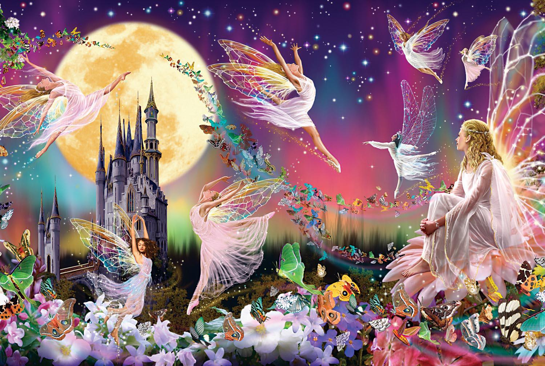 Fairy Triptych Fantasy Jigsaw Puzzle