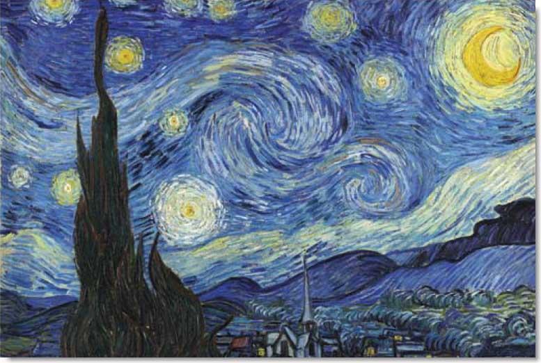 Starry Night Fine Art Glow in the Dark Puzzle