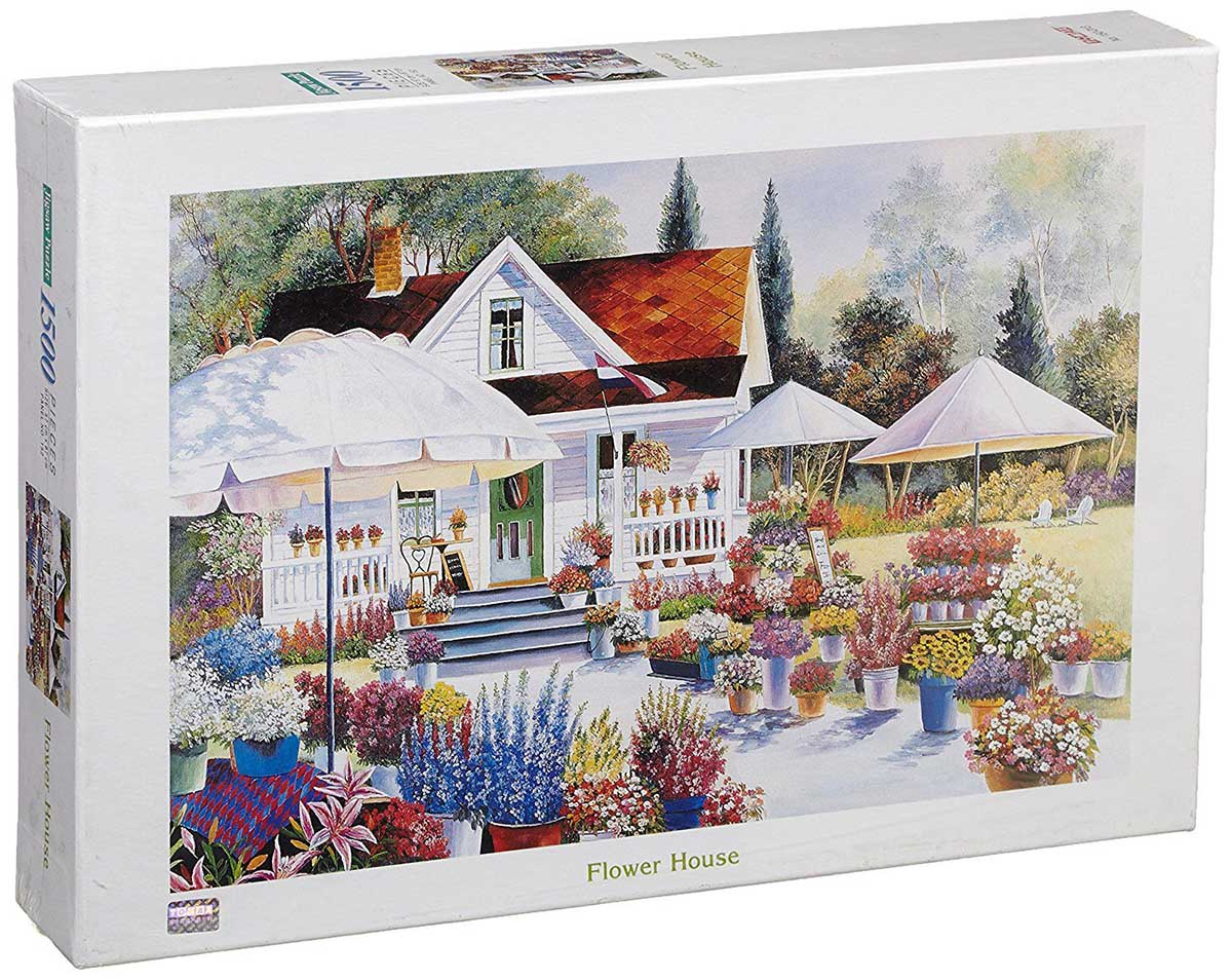 Flower House Flowers Jigsaw Puzzle