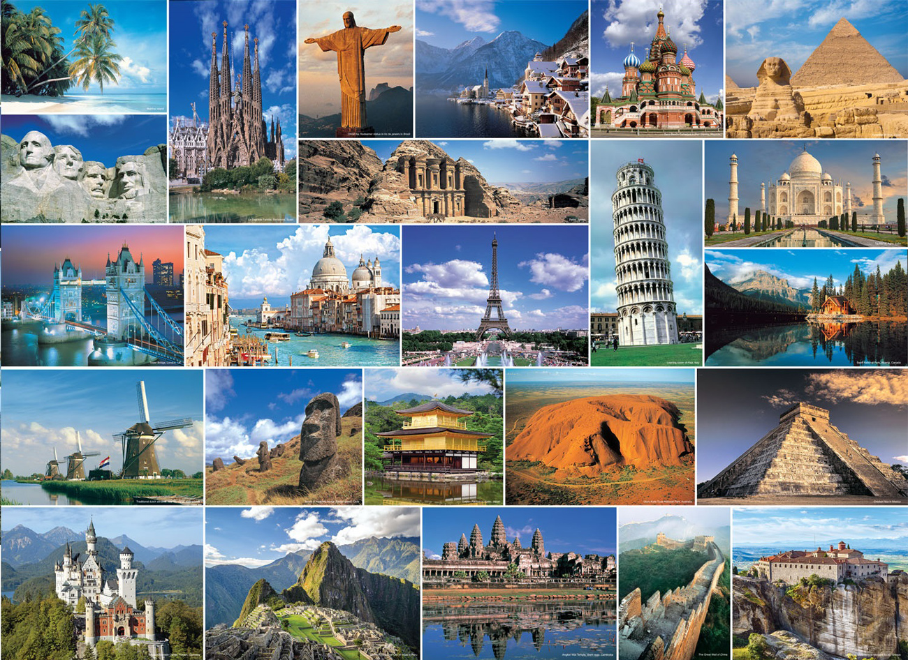 Wonders of the World Travel Jigsaw Puzzle